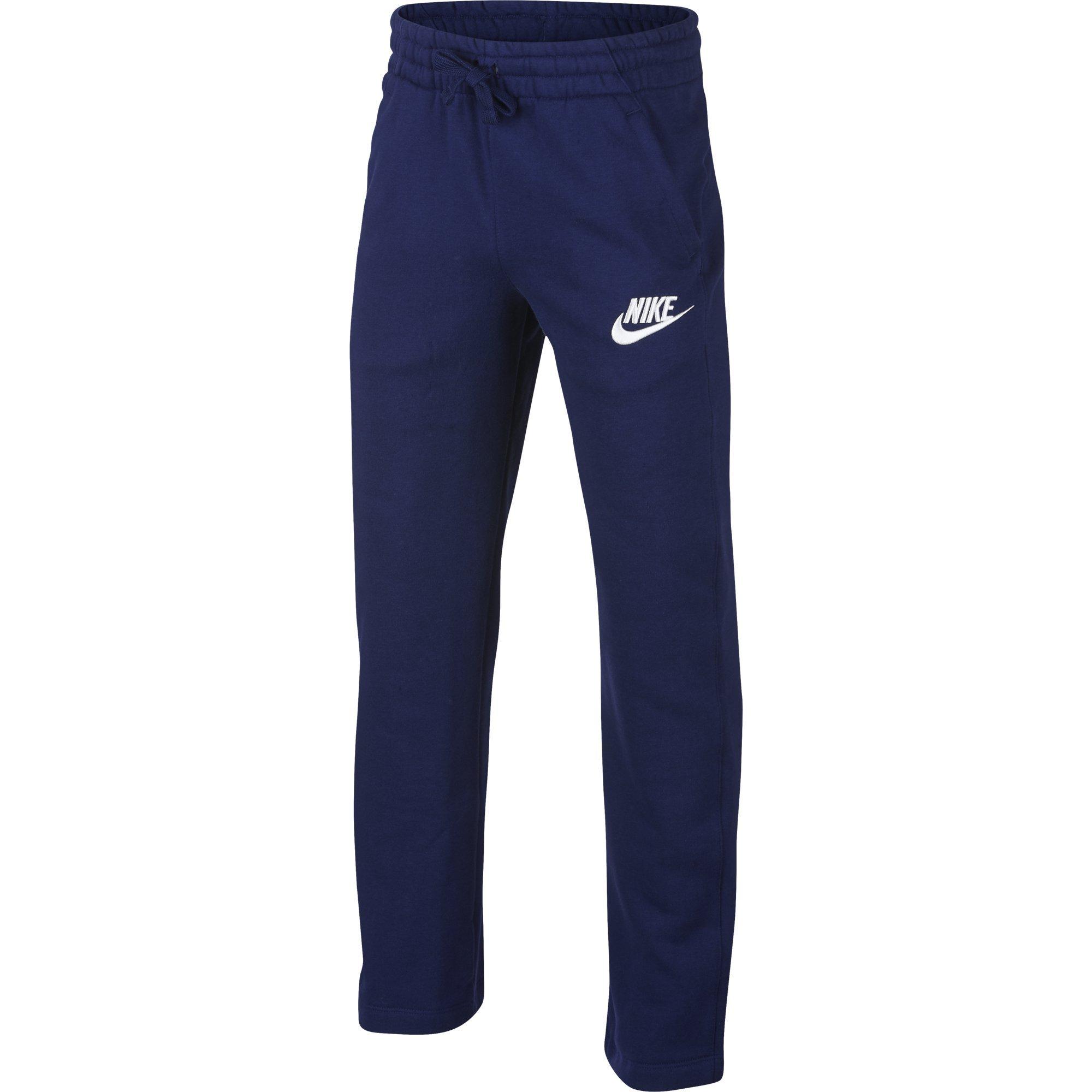 NIKE Sportswear Boys' Club Fleece Open Hem Pants, Blue Void/White, Small