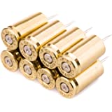 9mm Bullet Casing Polished Push Pins in Brass - Set of 8