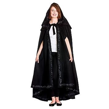damas medievales capa con capucha y bordado negro: Amazon.es: Juguetes y juegos