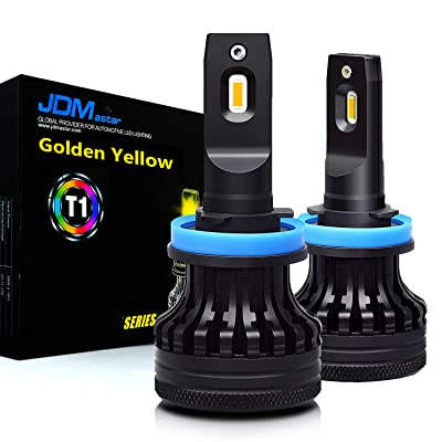 JDM ASTAR T1 High Power H11 H9 H8 All-in-One Gold Yellow LED Bulbs: Automotive