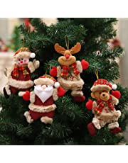 AMhomely Christmas Decorations Sale, Christmas Ornaments Gift Santa Claus Snowman Reindeer Toy Doll Hang Decorations Merry Christmas Decorative Xmas Decor Ornaments Party Decor Gifts