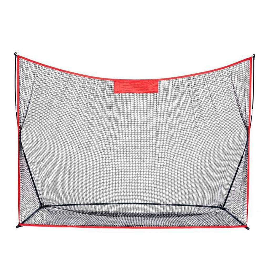 Ffjjdls ポータブルゴルフネットガーデンゴルフヒットネットスイング野球ネット2.1×3m (Color : 赤) 赤