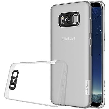 Nillkin Nature - Carcasa protectora trasera de gel / TPU para Samsung Galaxy S8 - Transparente