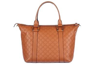 Amazon.com: Gucci para Mujer, piel Bolsa De Hombro Logo ...