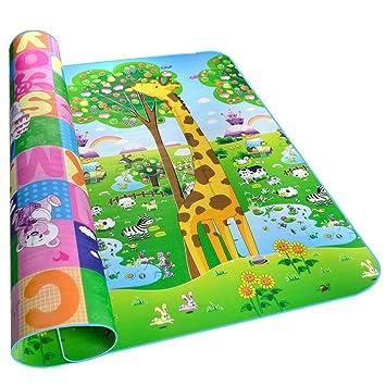Golden Rule Alfombra para niños suave para jugar niños y bebés lados dobles diseño animal resistente