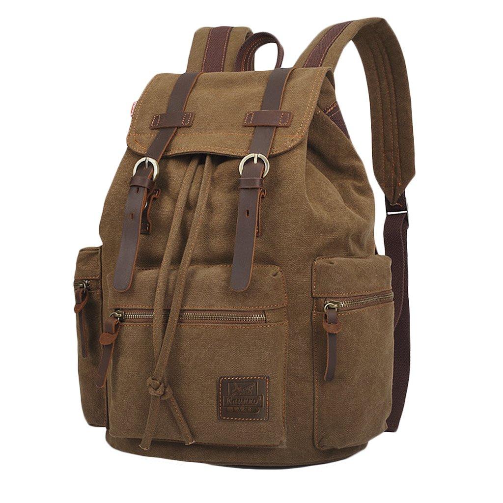Herren Rucksack Damen Rucksäcke Rucksack Herren Canvas Vintage Schulrucksack Backpack Daypack für Campus Studenten und Outdoor Reisen Wandern in 4 Farbe auswählbar cde1e4