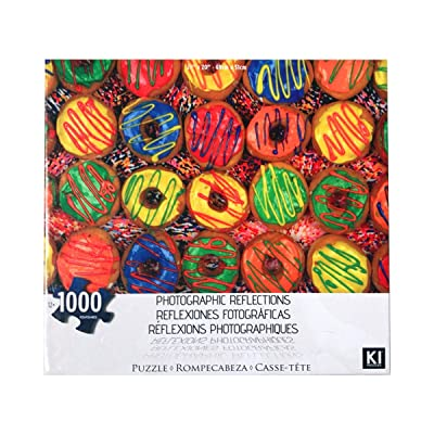 Jigsaw Puzzles 1000 Pieces for Adults Kids Families, Stress Reliever Micro-Sized Puzzles Sweets Donuts Puzzle DIY Colorful Toys Educational Games Difficult Puzzle Art for Men and Women: Toys & Games