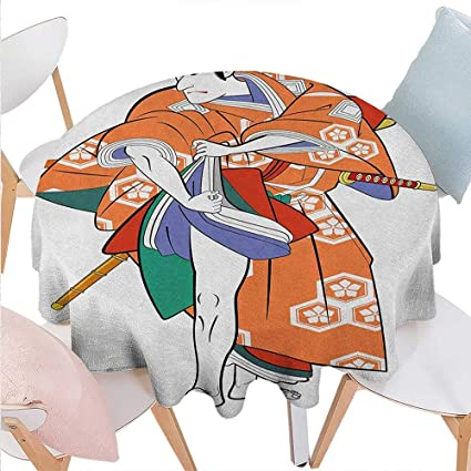 Amazon Com Blountdecor Kabuki Mask Customized Round Tablecloth