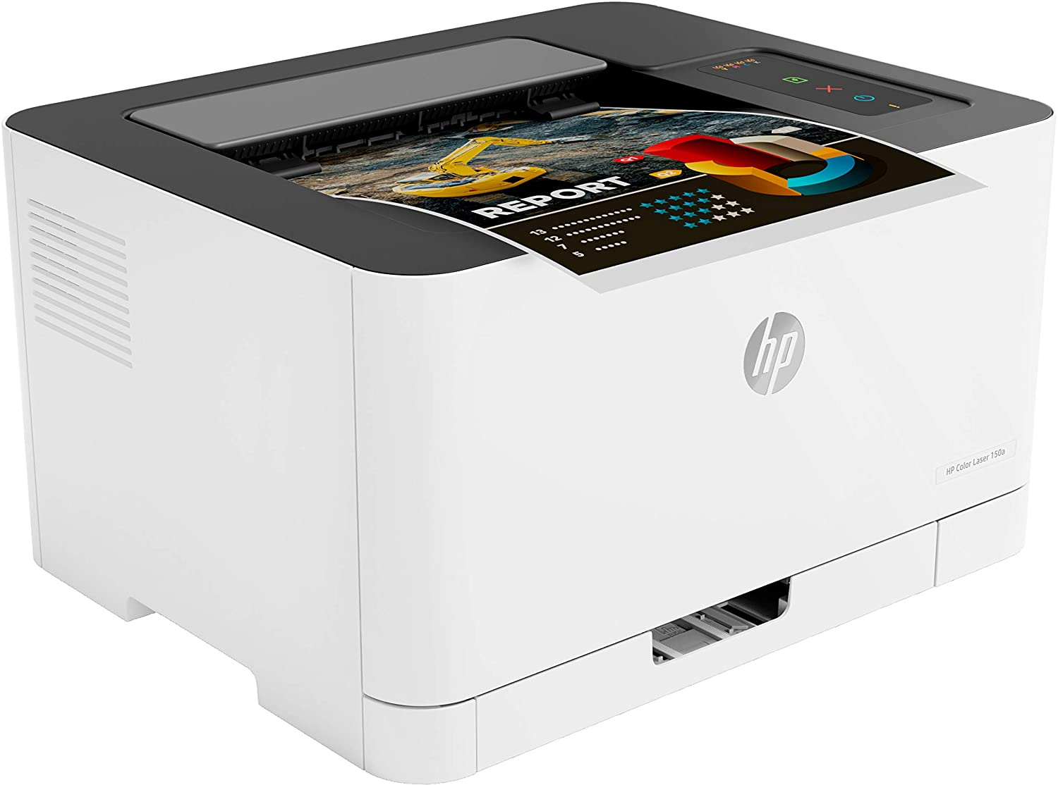 HP 150a - Impresora Láser (8 ppm Negro (A4), 4 ppm Color (A4), Apple AirPrint, Bandeja de Salida de 50 Hojas, LED, USB 2.0) Blanco