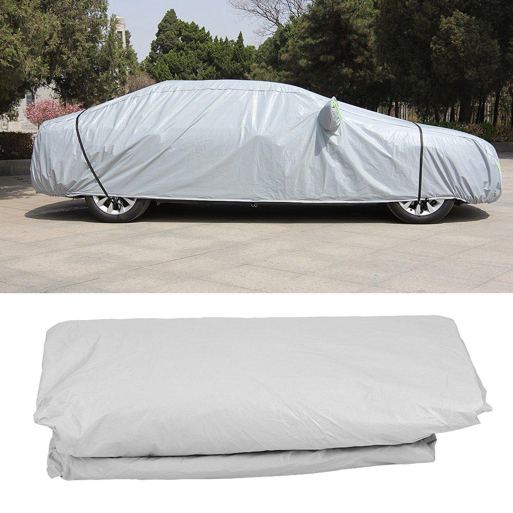 protecci/ón UV l/íneas de advertencia Funda impermeable para coche color gris cubierta completa para coche GOTOTOP PEVA resistente al viento