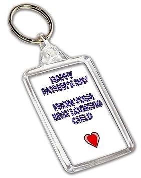 AKGifts Feliz día del Padre de tu Mejor niño Llavero ...