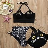 WOCACHI Women 2019 Summer Girls Halter Kitty Cat