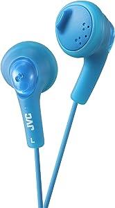 JVC Basic Gumy Earbuds Blue, Model Number: HA-F160-A
