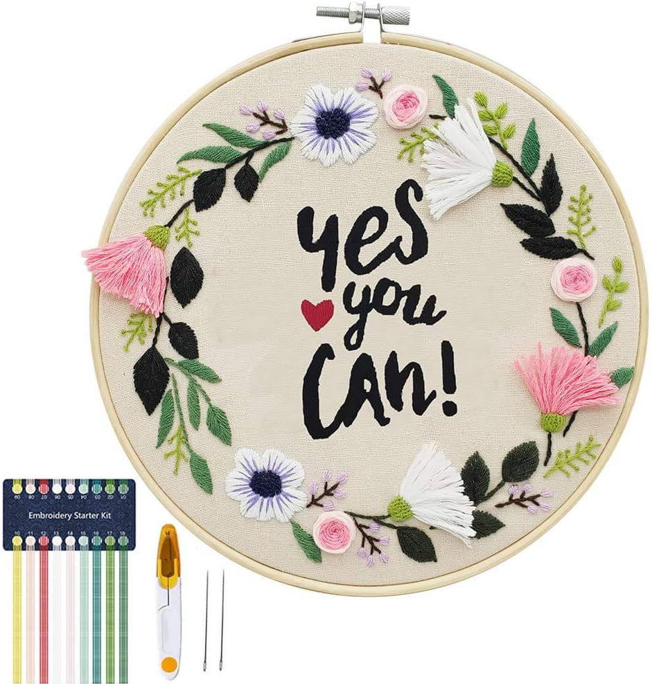 Beginner Initials Couple sitting Embroidery Kit