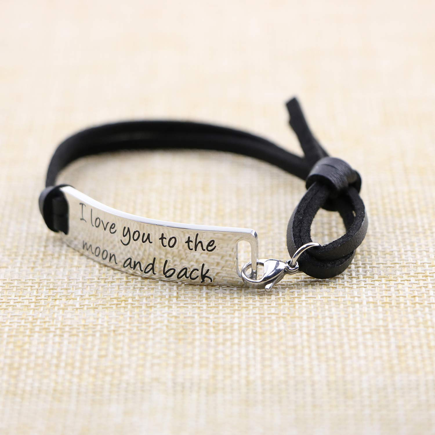 Yiyang Bracelets for Women Inspirational Stainless Steel Bar Wrap Bangle Cuff Personalized Birthday Gifts