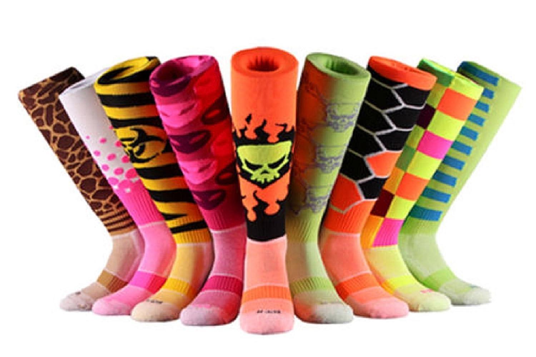 Samson Hosiery /® Skeleton Leg Bone stampa Funky divertente regalo novit/à moda sport e casual calzettoni per uomo donna bambini unisex