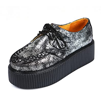 c9a0bf6569bb0 Amazon.com | RoseG Women's Fashion Dandy Punk Goth Platform Creepers ...