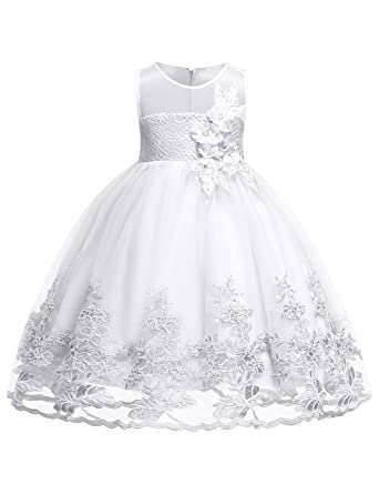 16a3a4306a7 Blevonh Big Girl Dresses Kids 2018 Festival Gift for Daughter Dress Girls  Sleeveless Chiffon Lace 3D