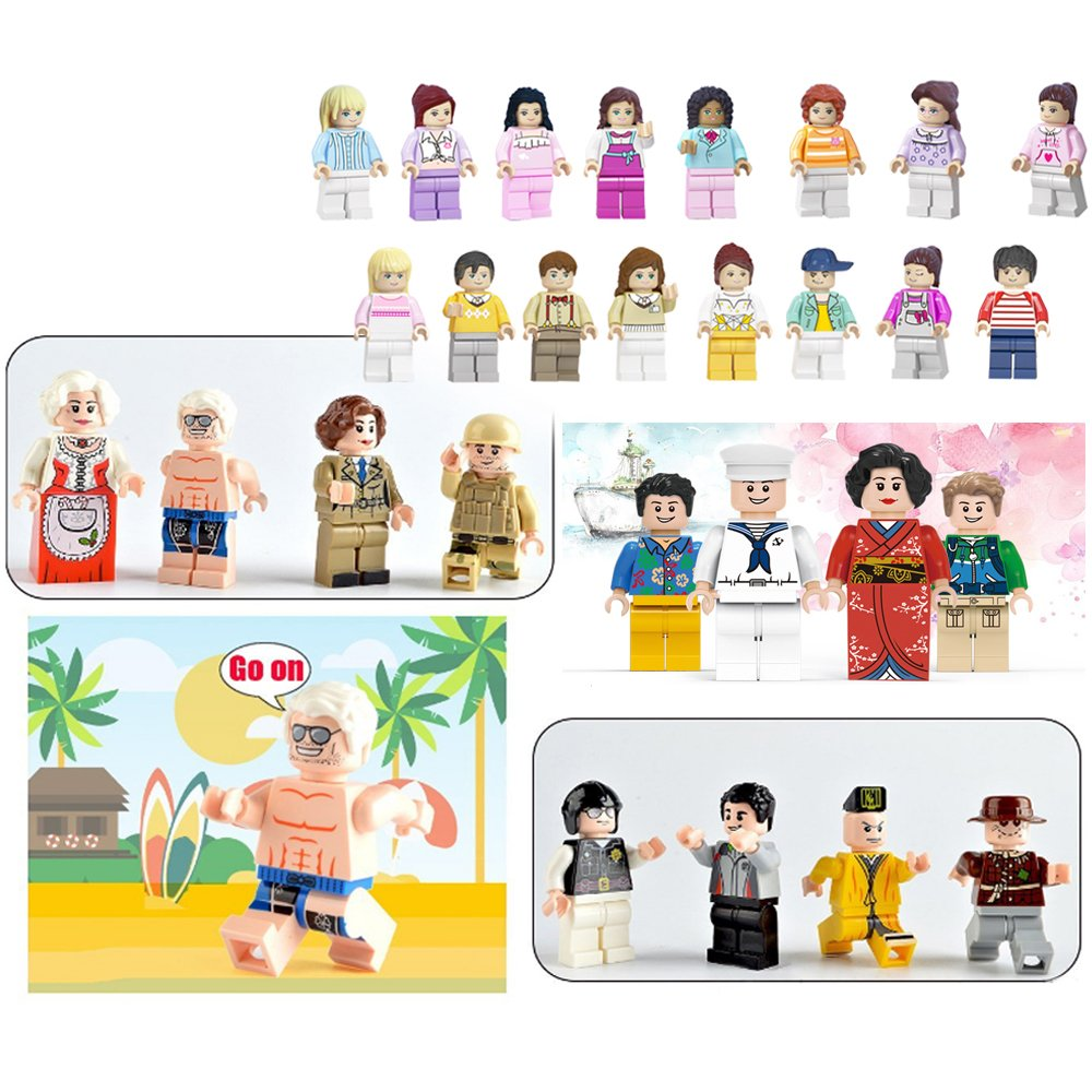 Amazon.com: Minifigures Set of 40+7 Include Lego-Compatible Building ...