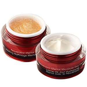 Vine Vera Resveratrol Merlot Moisture Day Cream and Resveratrol Merlot Peeling Gel Set