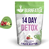 THE ORIGINAL BURNFATEA | 14 DAY DETOX CRAVE BUSTER | ULTIMATE WEIGHT LOSS TEA WITH DELICIOUS TASTE | FIGHT SUGAR CRAVINGS & APPETITE SUPPRESSANT | CHERRY VANILLA FLAVOUR