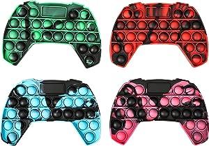 gitete Pop Push its Game Controller Gamepad Shape Pop Push tie dye Bubble Sensory Fidget Toy Autism Special Needs Stress Reliever for Kids & Adults (4 Colors)