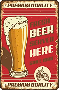 Retro Beer Metal Tin Signs Bar Pub Home Brewery Decorative Plates Beer Wall Sticker Advertising Iron Painting
