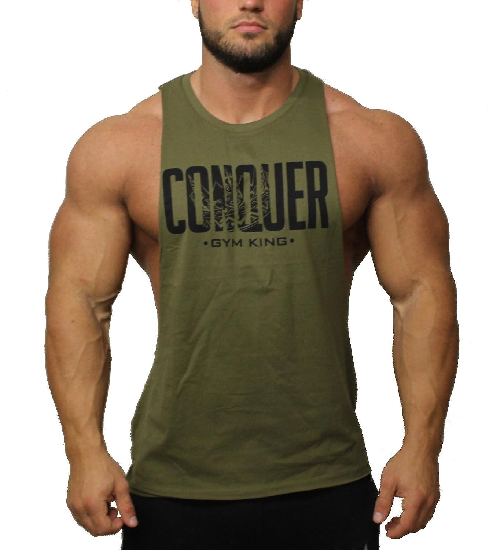 Gym King Hardcore Sleeveless Deepcut Tank Bodybuilding Shirt
