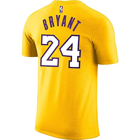 d22334a7f Outerstuff Kobe Bryant Los Angeles Lakers  24 Yellow Youth Performance Name    Number Shirt (
