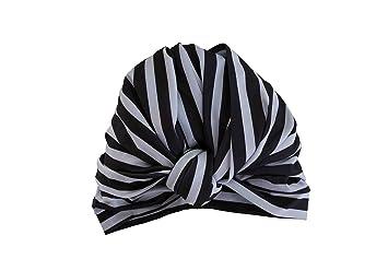 8177340aa Amazon.com: DAHLIA shower cap in Monochrome Stripe: Beauty