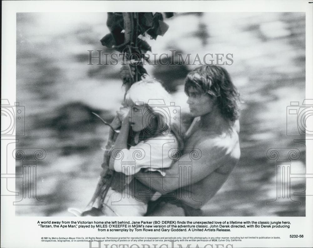 Amazon com vintage photos 1981 press photo tarzan the ape man starring bo dereck and miles okeeffe photographs