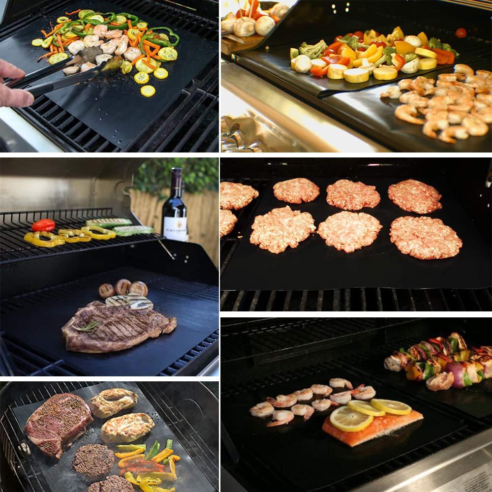 2 Pcs Nonstick Kitchen Copper Chef Grill Bake Mats BBQ Grill Mat Barbecue Pad#LH