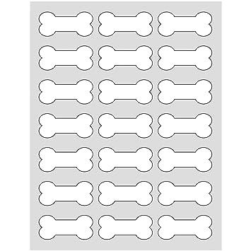 Amazon.com : 105 Printable Dog Bone Labels, 2.4