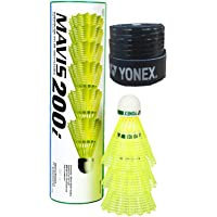 Yonex Mavis 200i Nylon Shuttle Cock, Pack of 6 (Yellow) & Yonex 1Grip
