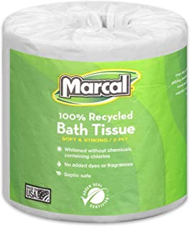 product image for 975 Supply Toilet Paper 100% Recycled - 2 Ply White Bath Tissue, 336 Sheets Per Roll - 1 Roll Green Seal Certified Toilet Paper 06079
