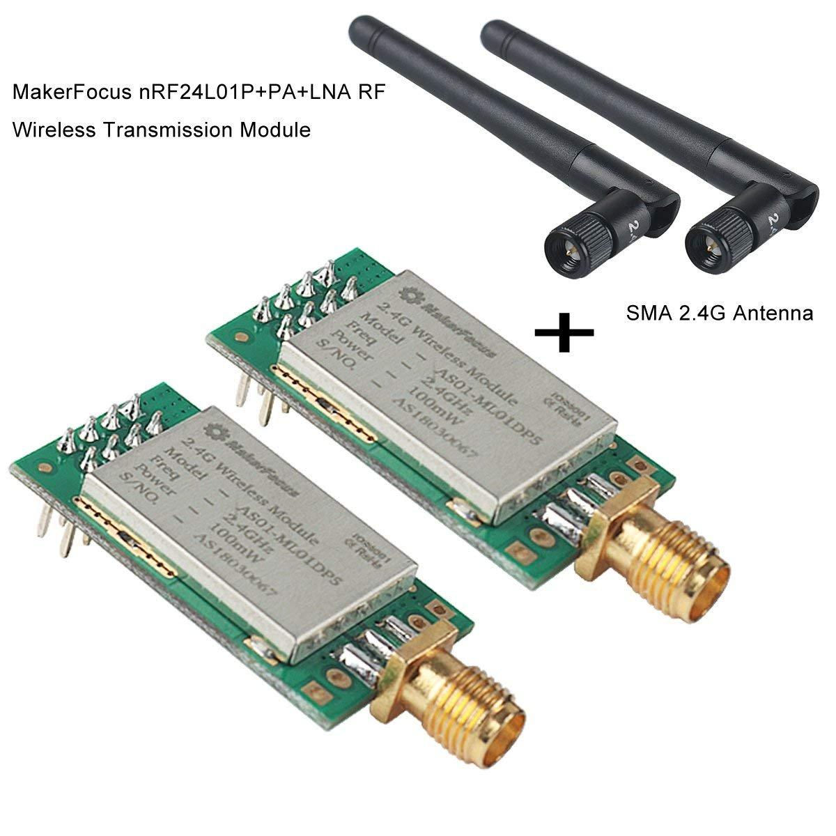 Makerfocus 2pcs Nrf24l01p+pa+lna Rf Wireless Transmission Mo