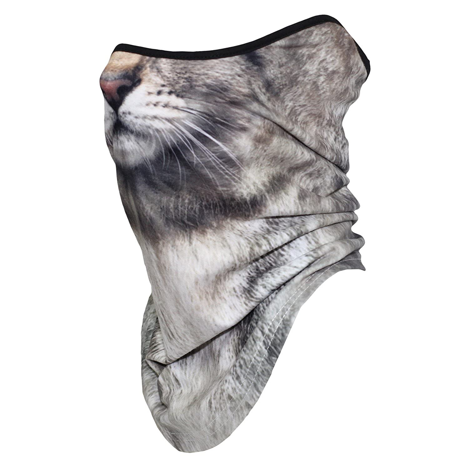3D Animal Half Face Mask Scarf Neck Gaiters for Motorcycle Cycling Skiing Halloween Party Cosplay