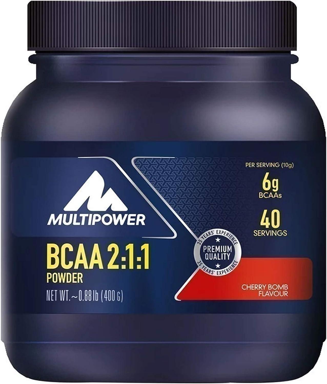 Multipower BCAA Powder Suplemento Sabor Cherry Bomb - 400 gr