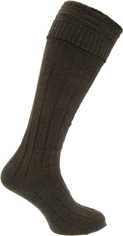 Calcetienes altos falda escocesa de lana Modelo Scottish Highland ...