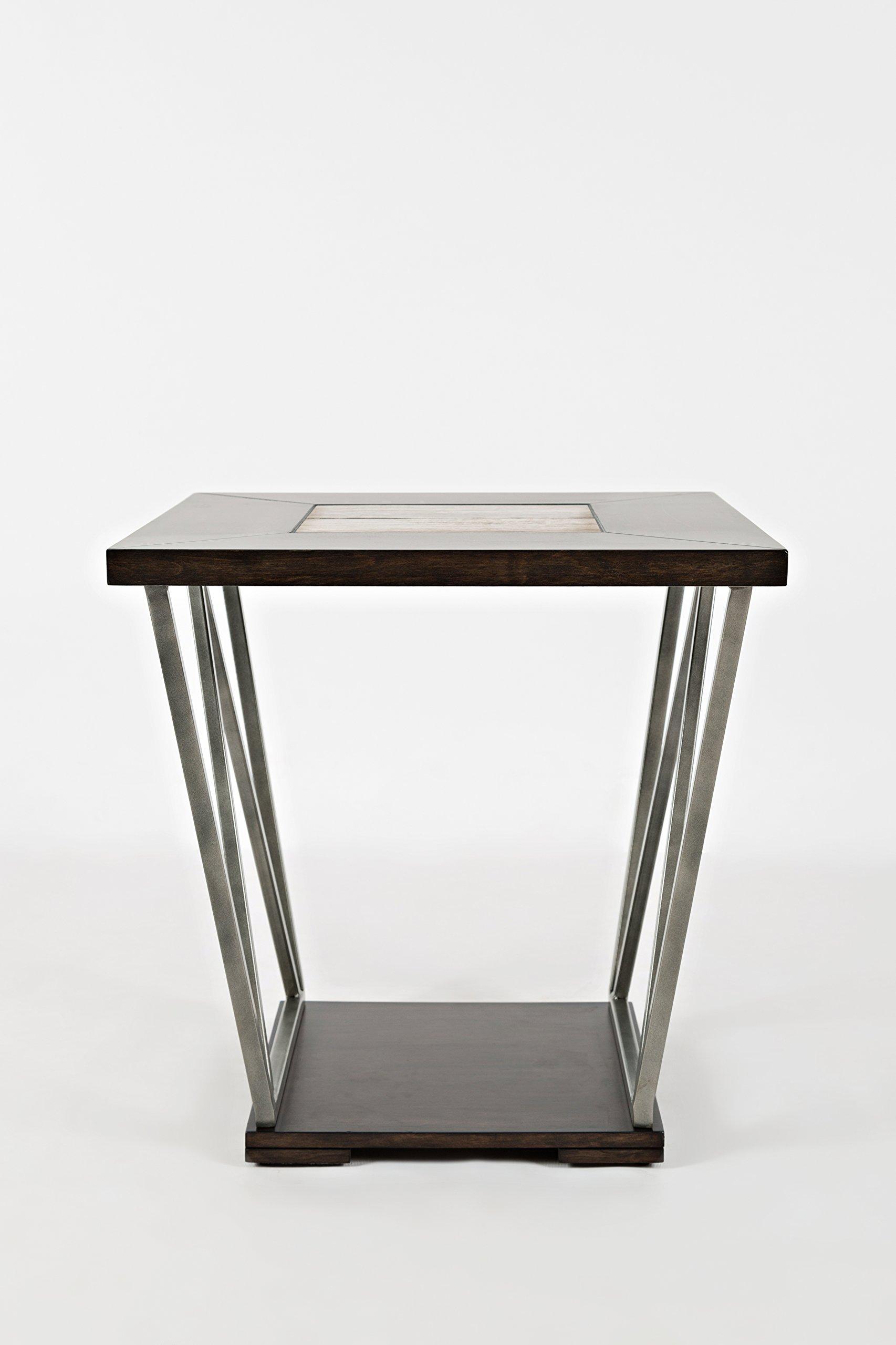 Jofran: 1680-3, Leonardo, Square End Table, 24''W X 24''D X 24''H, Leonardo Finish, (Set of 1)
