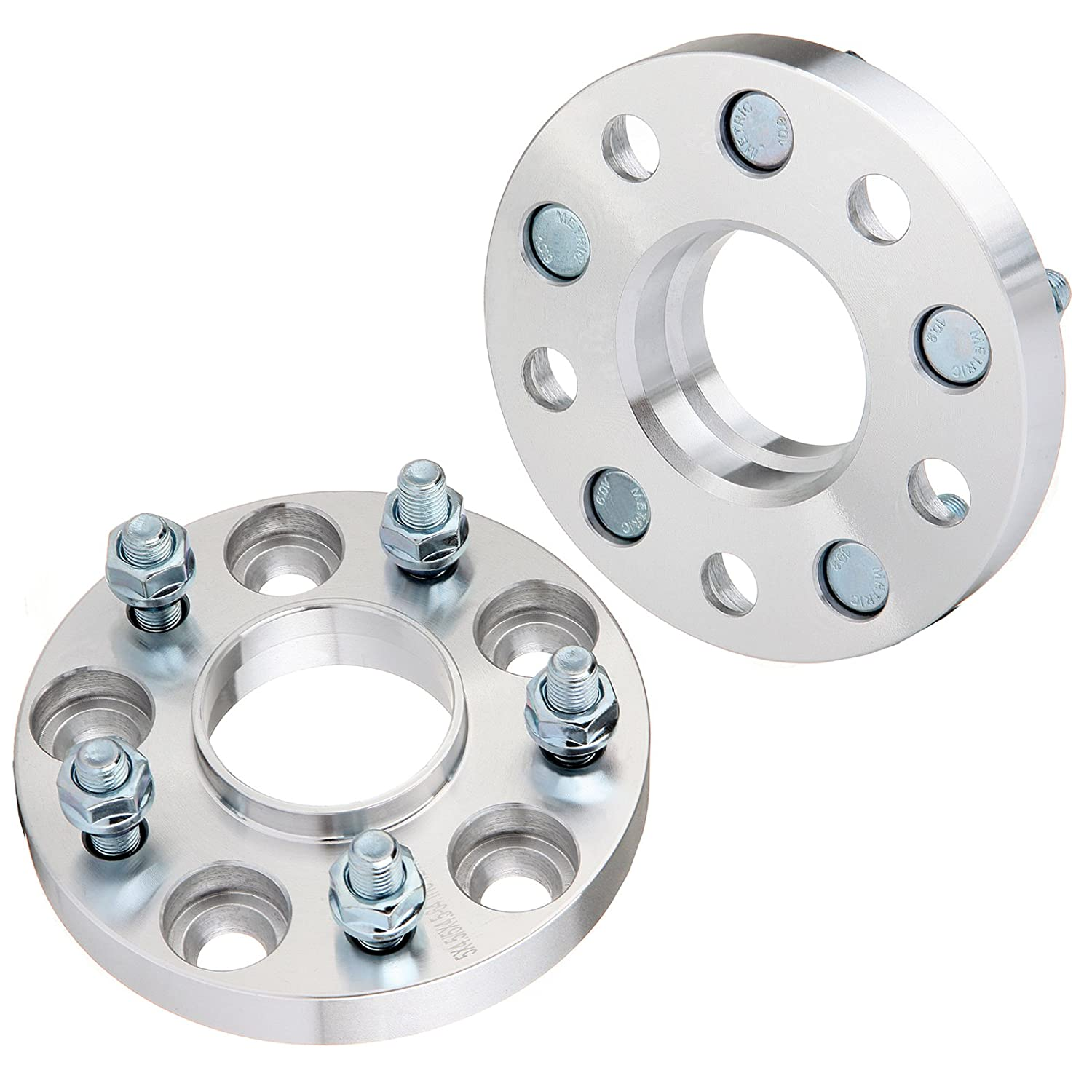 ECCPP 2X 5 lug Hubcentric Wheel Spacers 20mm 5x4.5 to 5x4.5 64.1mm for Honda Accord Civic CR-Z CR-V Element Odyssey Pilot S2000 Prelude| Acura series with 12x1.5 Studs 802128-5211-1151461
