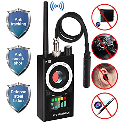 Anti Spy RF Detector, uniwood Wireless Bug Detector Signal, Hidden Camera Detectors - GSM Listening Device Finder Radar Radio Scanner Wireless Signal Alarm: Home Audio & Theater