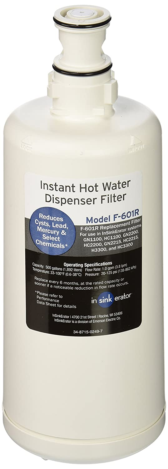 Insinkerator instant hot water dispenser and water filtration system - Amazon Com Insinkerator F 601 Filter Cartridge For Hot Water Dispenser 2 Pack Home Improvement