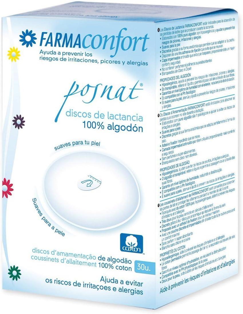 Discos de Lactancia de Algodón 30U: Amazon.es: Bebé