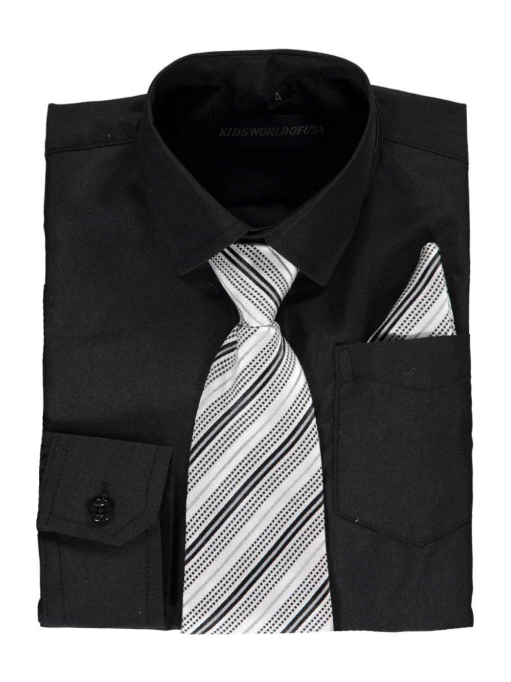 Kids World Little Boys Dress Shirt With Accessories 1541759435
