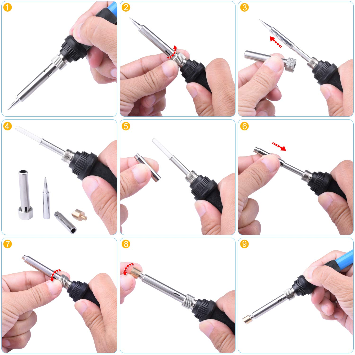 Digital LCD Display 180/°C- 480/°C Adjustable Temperature 80W Soldering Pen and Tips Stencils for Welding Carving Umitive 94Pcs Wood Burning Pyrography Pen Kit Power Cable with Switch