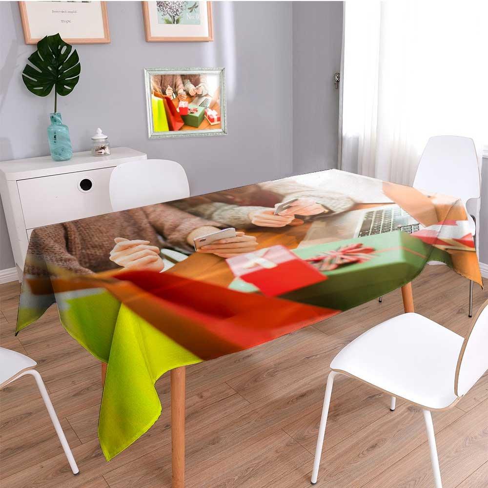 Amazon.com: Auraisehome Linen Square TableclothFemale ...