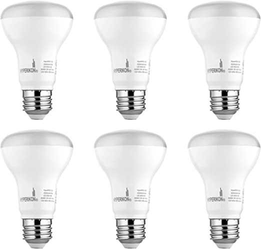 Soft White Glow 4-Pack BR20 LED Flood Light Bulb,7W ,525LM,Dimmable,120/° Beam Anglg,R20 Indoor LED Bulb,UL-Listed and Energy Star Approved ,2700K 50-Watt