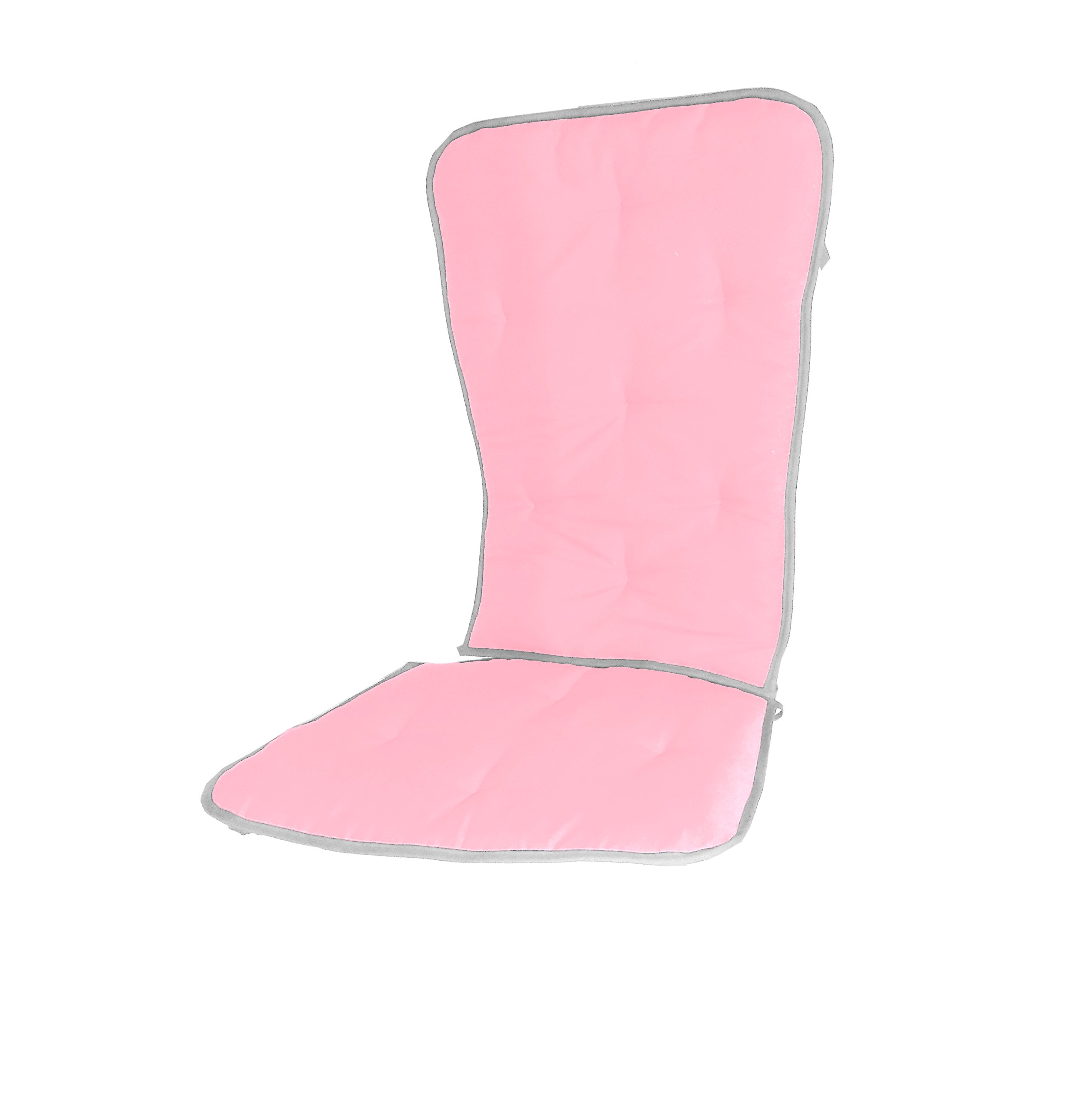 Baby Doll Bedding Reversible Rocking Chair Pad, Hot Pink/Grey by BabyDoll Bedding
