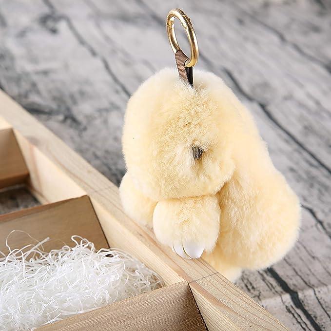 Amazon.com: yiseven conejo de peluche llavero de peluche ...